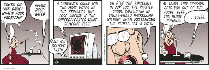 Comic Strip Darrin Bell  Rudy Park 2016-04-18 choose