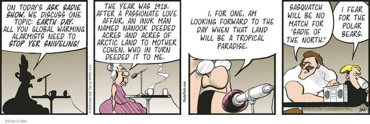 Comic Strip Darrin Bell  Rudy Park 2016-04-22 forward