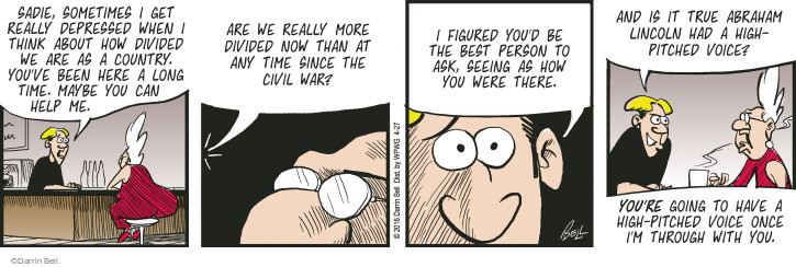 Comic Strip Darrin Bell  Rudy Park 2016-04-27 country