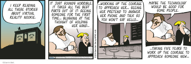 Comic Strip Darrin Bell  Rudy Park 2016-04-28 talk