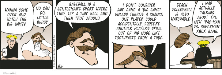 Comic Strip Darrin Bell  Rudy Park 2016-05-06 tiny