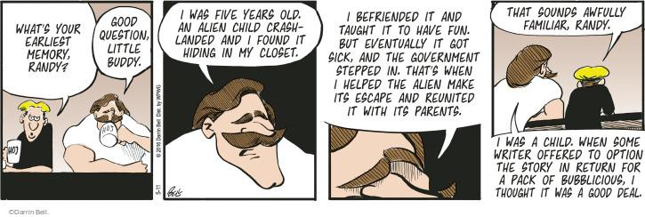 Cartoonist Darrin Bell  Rudy Park 2016-05-11 made fun