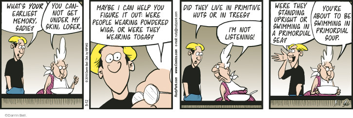 Comic Strip Darrin Bell  Rudy Park 2016-05-12 loser