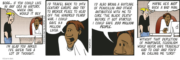 Comic Strip Darrin Bell  Rudy Park 2016-05-24 cure