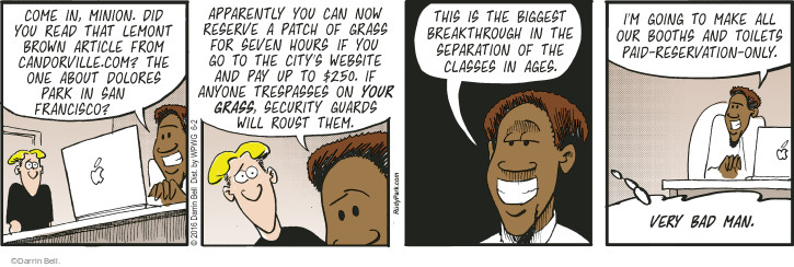 Comic Strip Darrin Bell  Rudy Park 2016-06-02 make