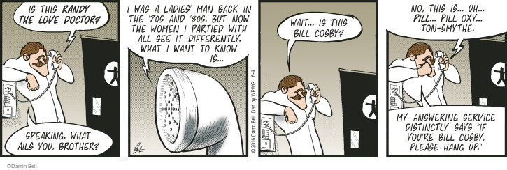 Comic Strip Darrin Bell  Rudy Park 2016-06-04 celebrity