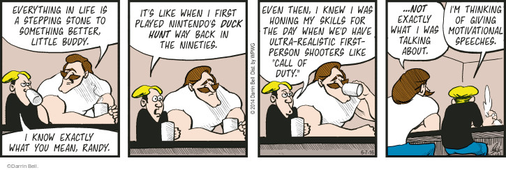 Comic Strip Darrin Bell  Rudy Park 2016-06-07 life