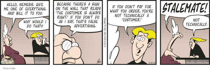 Comic Strip Darrin Bell  Rudy Park 2016-06-10 false advertising