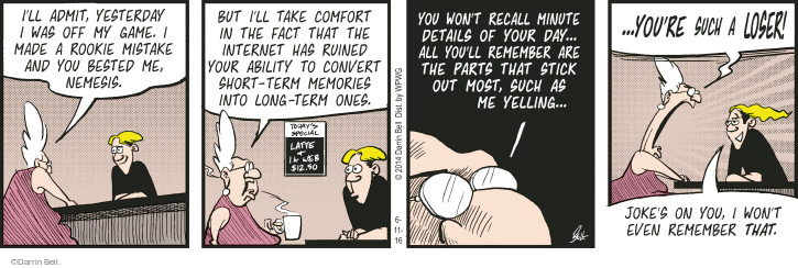 Comic Strip Darrin Bell  Rudy Park 2016-06-11 attention span