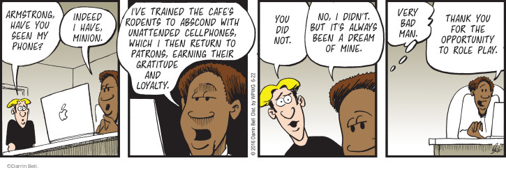 Comic Strip Darrin Bell  Rudy Park 2016-06-22 earn