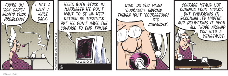 Comic Strip Darrin Bell  Rudy Park 2016-06-25 stuck