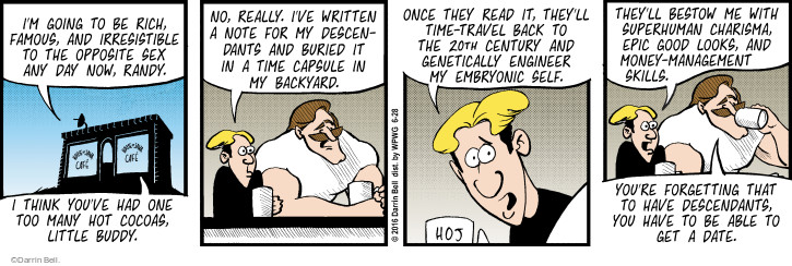 Comic Strip Darrin Bell  Rudy Park 2016-06-28 note to self