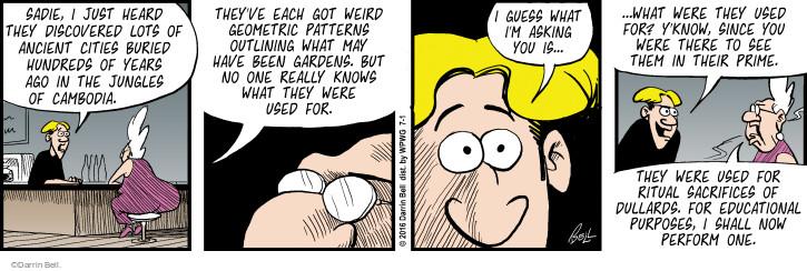 Comic Strip Darrin Bell  Rudy Park 2016-07-01 ancient
