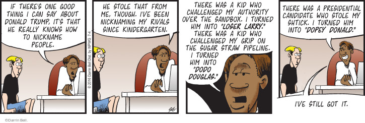 Comic Strip Darrin Bell  Rudy Park 2016-07-04 rivalry