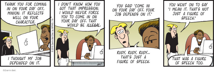 Comic Strip Darrin Bell  Rudy Park 2016-07-09 how was your day