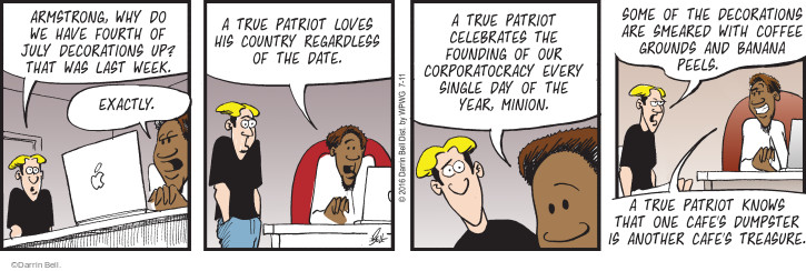 Comic Strip Darrin Bell  Rudy Park 2016-07-11 one year