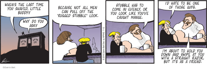 Comic Strip Darrin Bell  Rudy Park 2016-07-12 facial