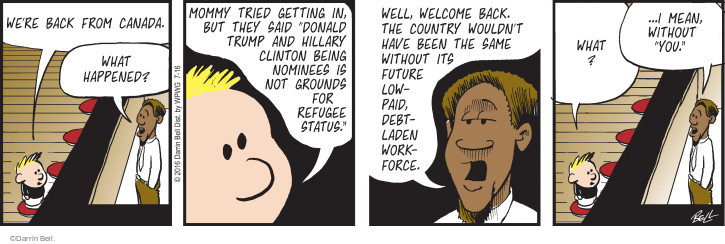 Comic Strip Darrin Bell  Rudy Park 2016-07-16 2016 Election Donald Trump