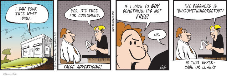 Comic Strip Darrin Bell  Rudy Park 2016-07-20 false advertising