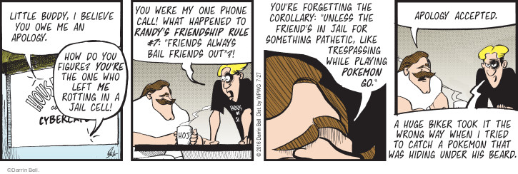 Comic Strip Darrin Bell  Rudy Park 2016-07-27 go wrong