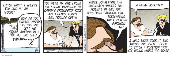 Comic Strip Darrin Bell  Rudy Park 2016-07-27 unless