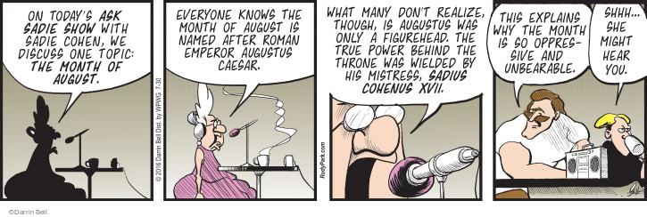 Comic Strip Darrin Bell  Rudy Park 2016-07-30 ancient