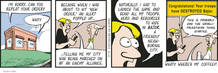 Comic Strip Darrin Bell  Rudy Park 2016-08-01 conflict