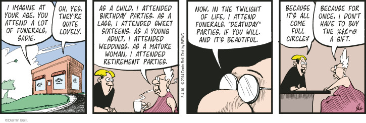 Comic Strip Darrin Bell  Rudy Park 2016-08-04 life