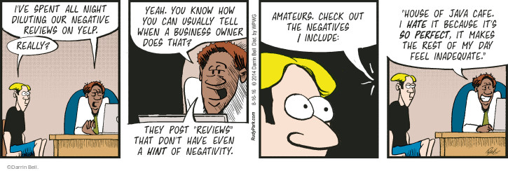 Comic Strip Darrin Bell  Rudy Park 2016-08-16 negative review