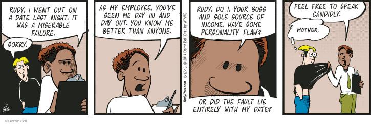 Comic Strip Darrin Bell  Rudy Park 2016-08-17 threaten