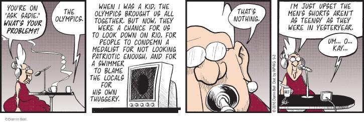 Comic Strip Darrin Bell  Rudy Park 2016-09-03 small