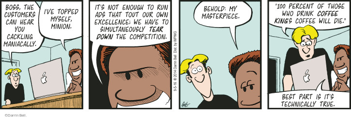 Comic Strip Darrin Bell  Rudy Park 2016-09-05 tear