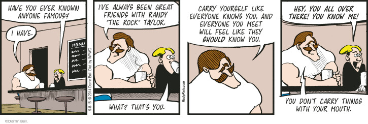Comic Strip Darrin Bell  Rudy Park 2016-09-08 celebrity