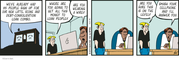 Comic Strip Darrin Bell  Rudy Park 2016-09-21 debt