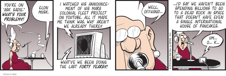 Cartoonist Darrin Bell  Rudy Park 2016-10-05 Mars