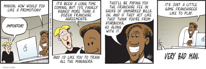 Comic Strip Darrin Bell  Rudy Park 2016-11-02 manager