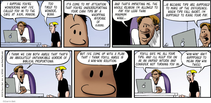 Comic Strip Darrin Bell  Rudy Park 2016-12-18 raise