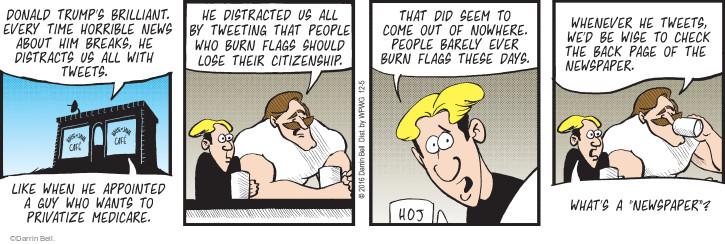 Comic Strip Darrin Bell  Rudy Park 2016-12-05 Donald Trump media
