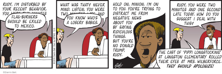 Comic Strip Darrin Bell  Rudy Park 2016-12-06 do