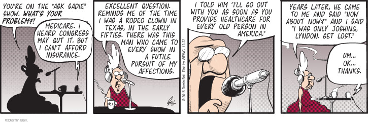 Comic Strip Darrin Bell  Rudy Park 2016-12-22 show time