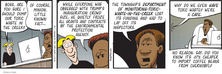 Comic Strip Darrin Bell  Rudy Park 2017-01-30 Environmental Protection Agency