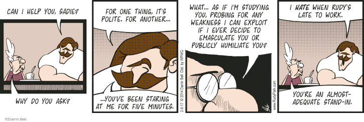 Comic Strip Darrin Bell  Rudy Park 2017-02-09 stand-in