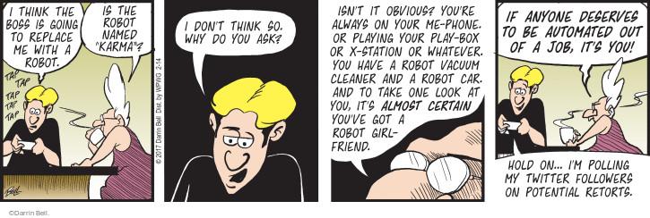 Comic Strip Darrin Bell  Rudy Park 2017-02-14 robot