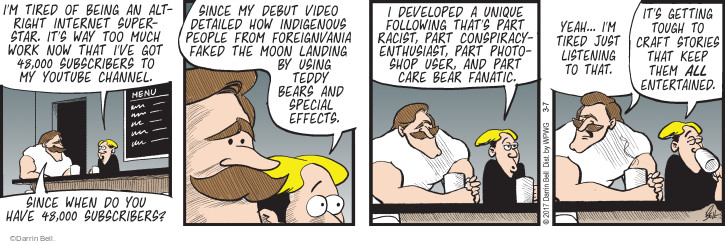 Comic Strip Darrin Bell  Rudy Park 2017-03-07 craft