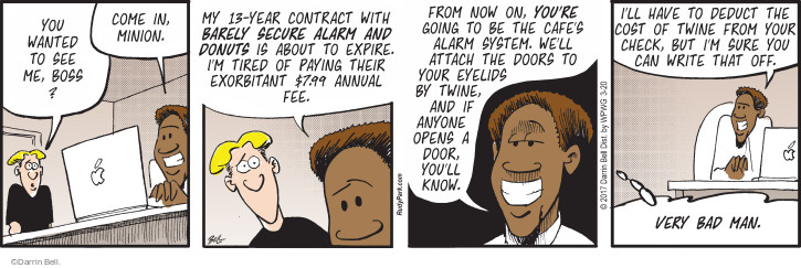 Comic Strip Darrin Bell  Rudy Park 2017-03-20 business owner