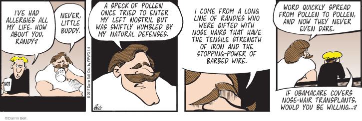 Comic Strip Darrin Bell  Rudy Park 2017-04-04 nostril
