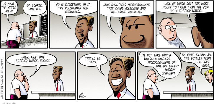 Comic Strip Darrin Bell  Rudy Park 2017-04-23 business owner