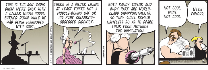 Comic Strip Darrin Bell  Rudy Park 2017-07-07 diagnose
