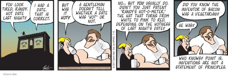 Comic Strip Darrin Bell  Rudy Park 2017-07-10 night