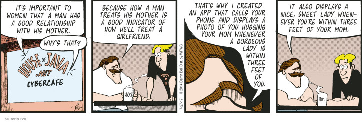 Comic Strip Darrin Bell  Rudy Park 2017-07-27 relationship